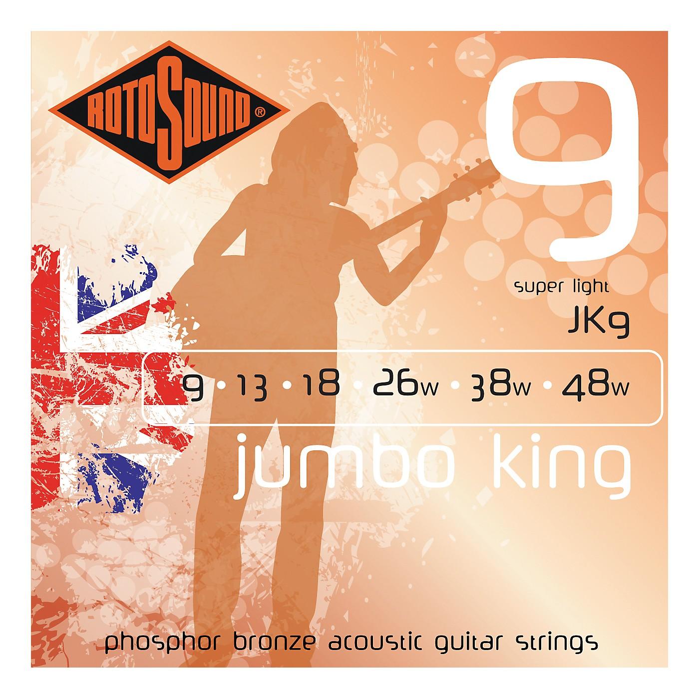 Rotosound Jumbo King Super Light Phosphor Bronze Acoustic Guitar Strings thumbnail