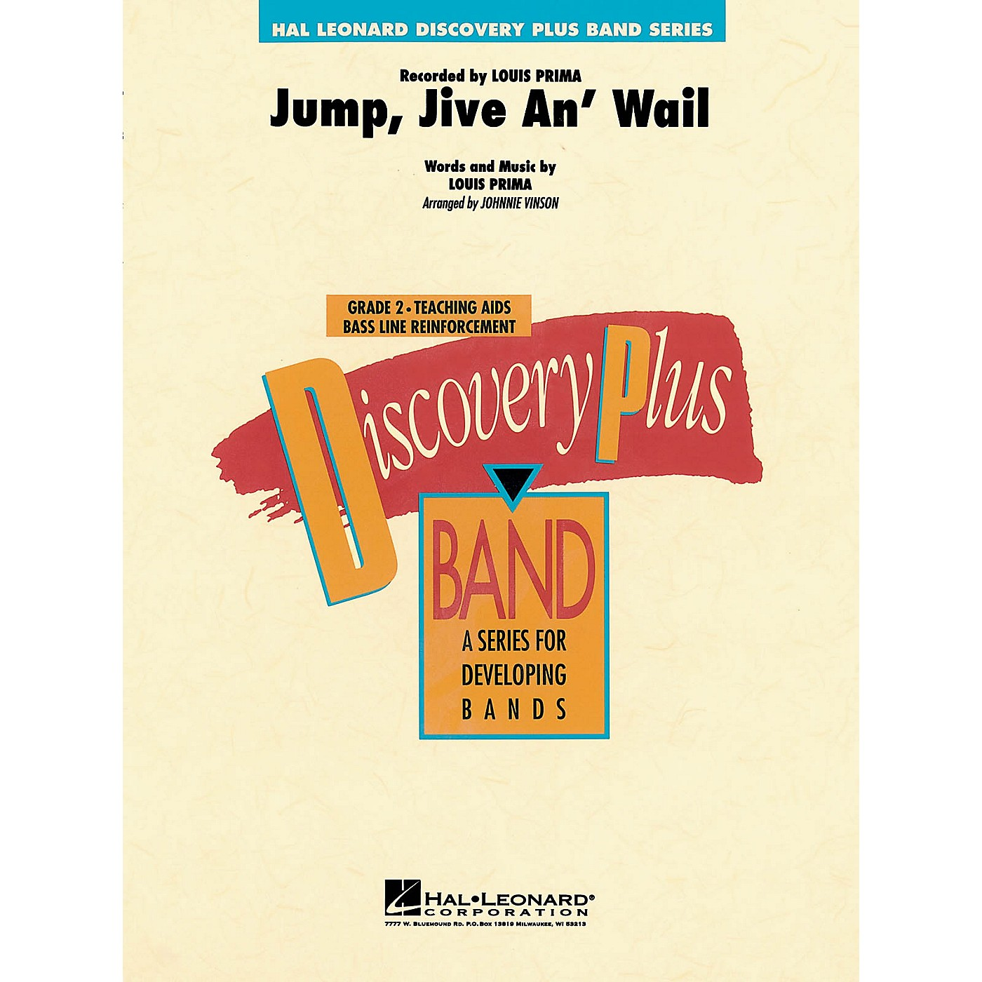 Hal Leonard Jump, Jive An' Wail - Discovery Plus Concert Band Series Level 2 arranged by Johnnie Vinson thumbnail