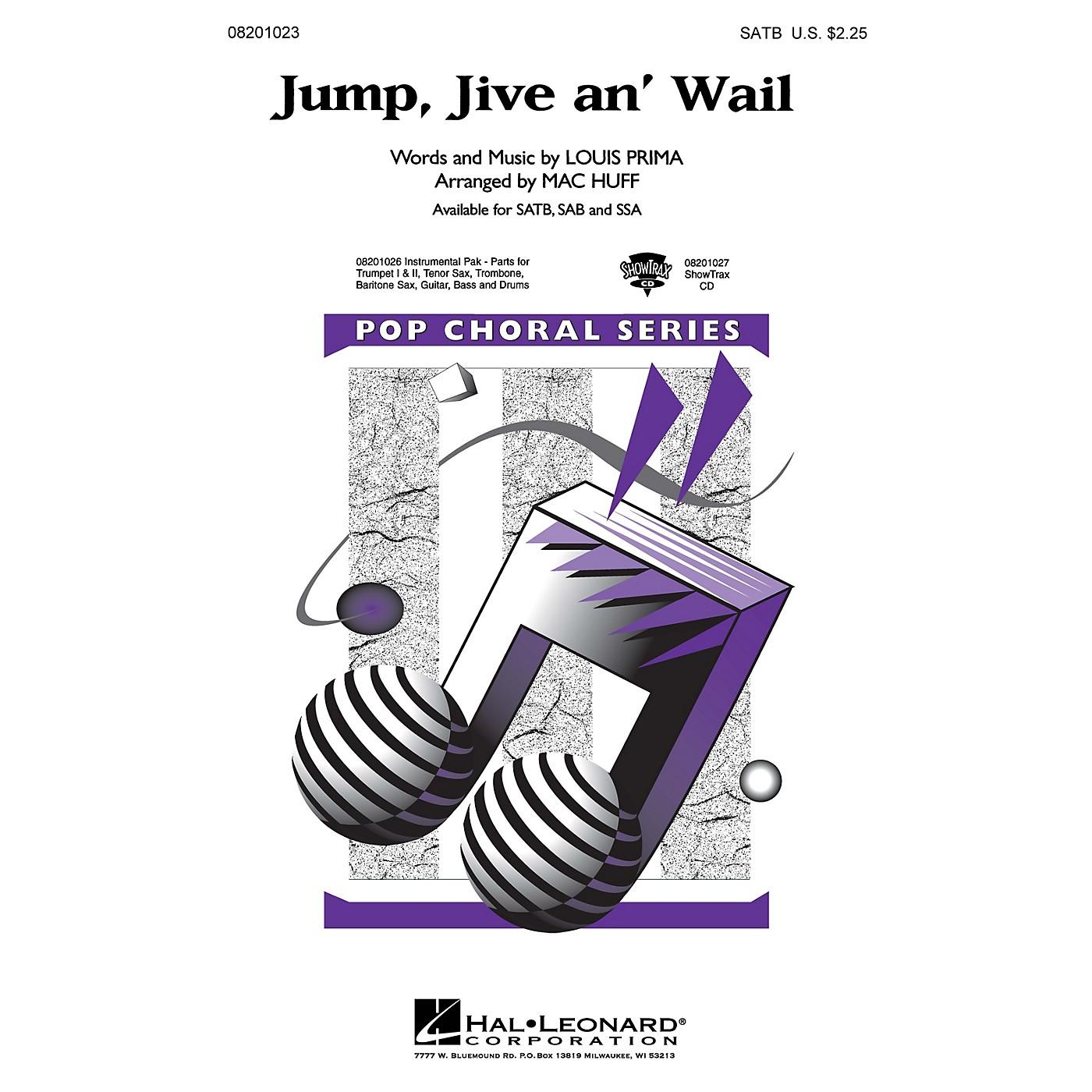 Hal Leonard Jump, Jive an' Wail Combo Parts by The Brian Setzer Orchestra Arranged by Mac Huff thumbnail