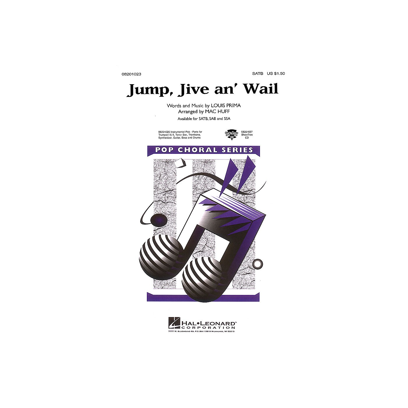 Hal Leonard Jump, Jive an' Wail SSA by The Brian Setzer Orchestra Arranged by Mac Huff thumbnail