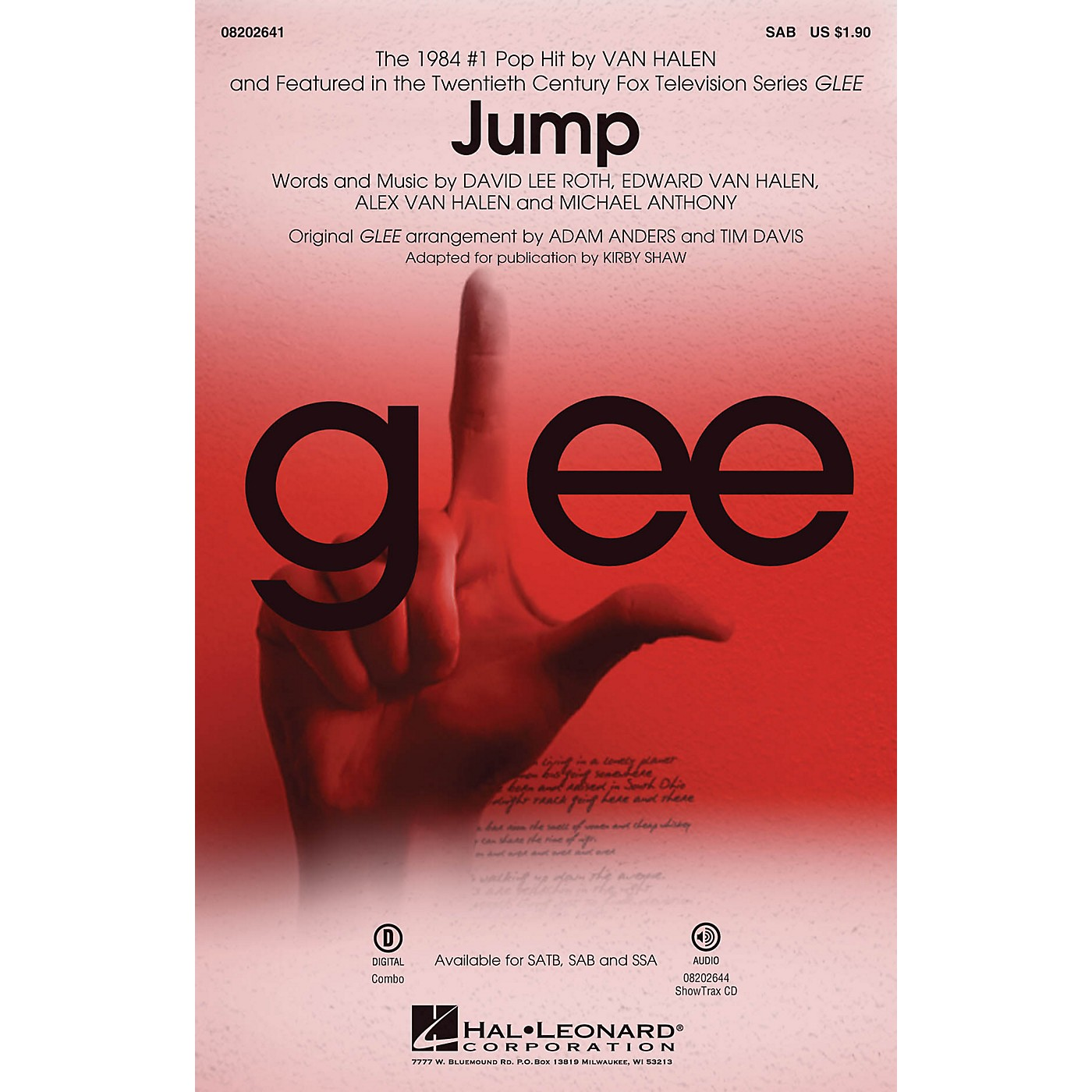 Hal Leonard Jump (from Glee) SAB by Van Halen arranged by Adam Anders thumbnail