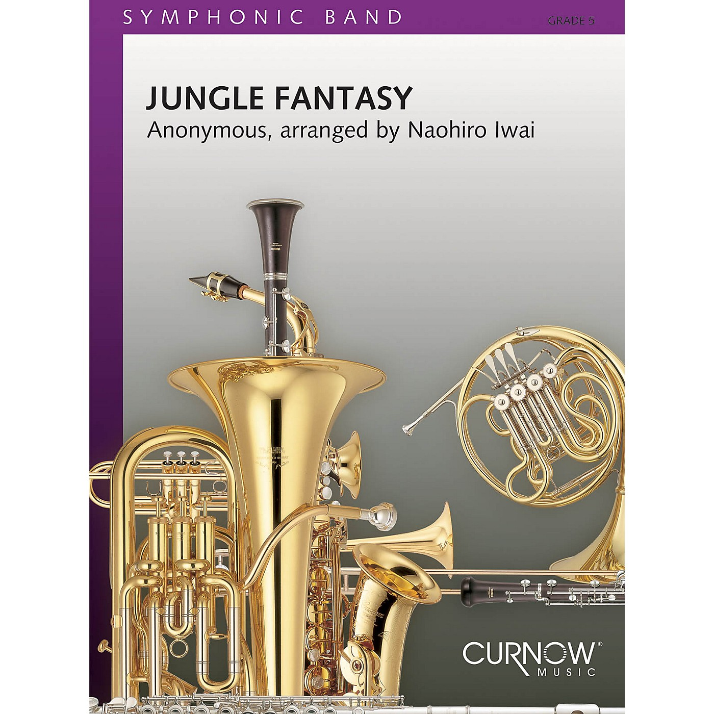 Curnow Music Jungle Fantasy (Grade 5 - Score Only) Concert Band Level 5 Composed by Naohiro Iwai thumbnail