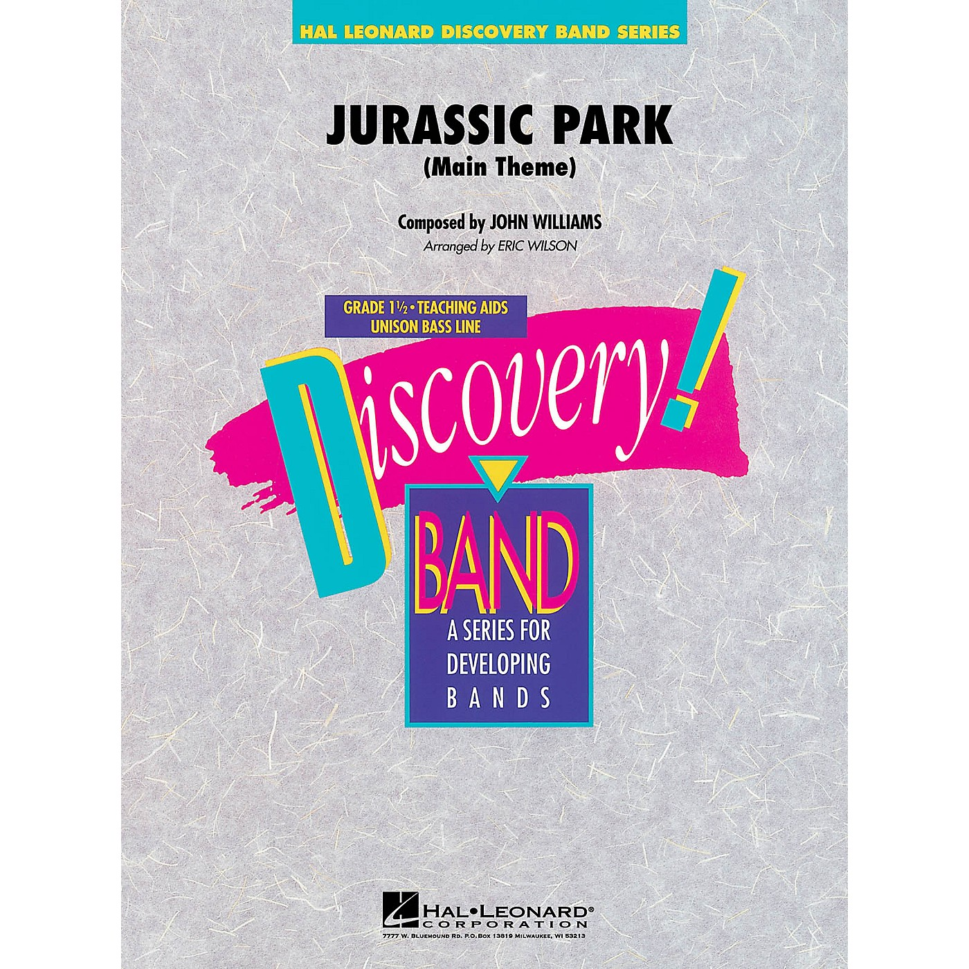 Hal Leonard Jurassic Park (Main Theme) Concert Band Level 1.5 Arranged by Eric Wilson thumbnail