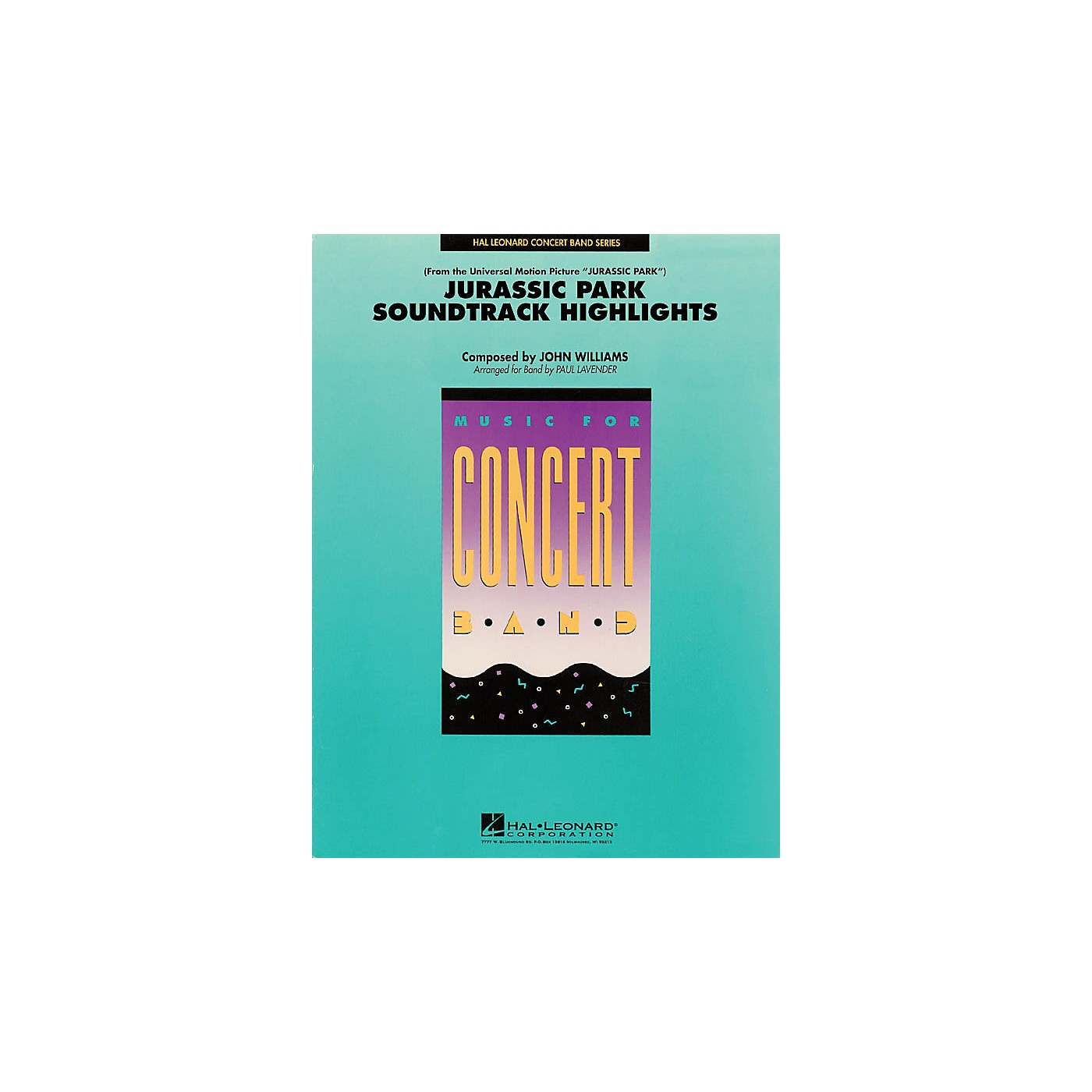 Hal Leonard Jurassic Park Soundtrack Highlights Concert Band Level 4 Arranged by Paul Lavender thumbnail