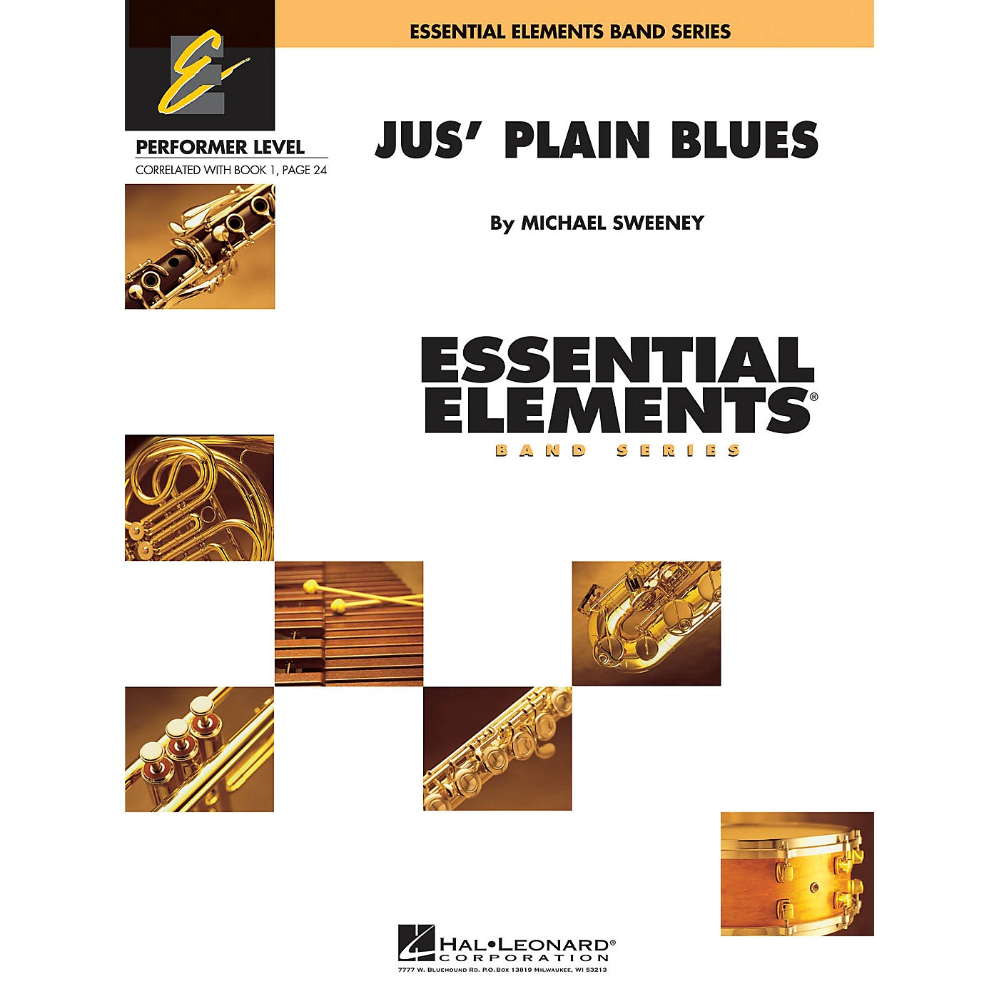 Hal Leonard Jus' Plain Blues Concert Band Level .5 to 1 Composed by Michael Sweeney thumbnail