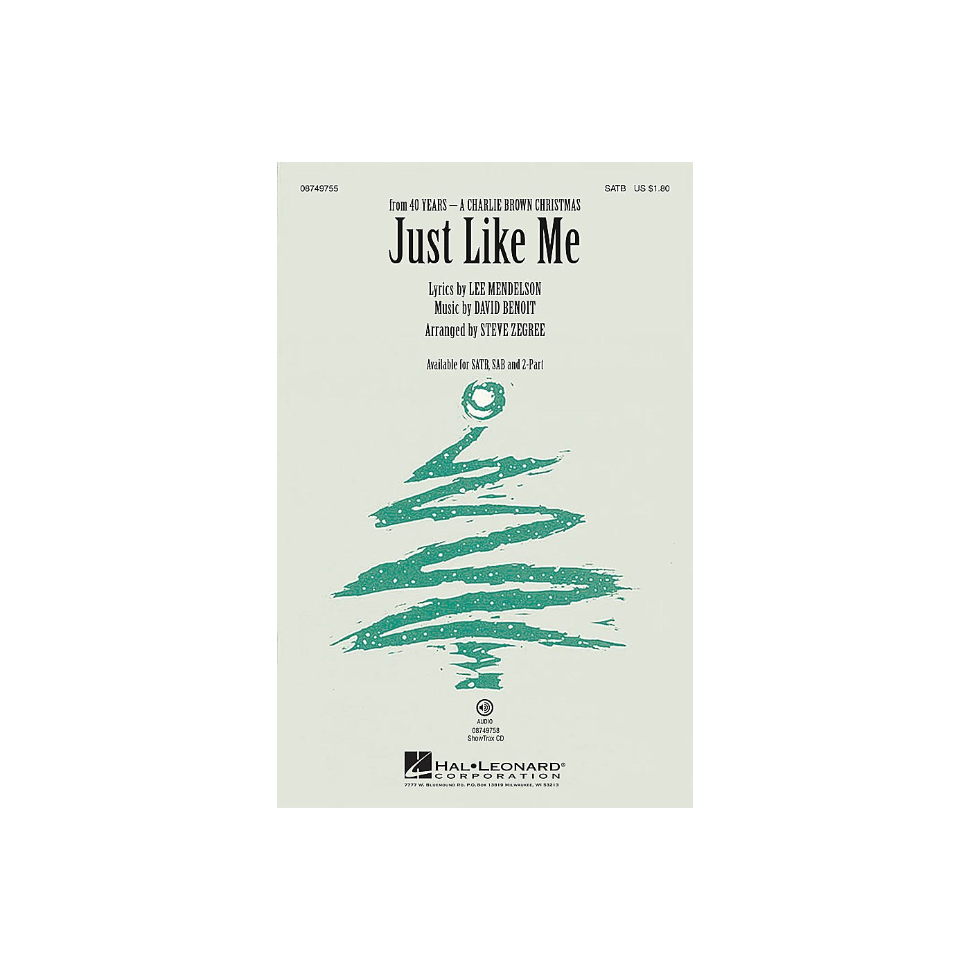 Hal Leonard Just Like Me 2-Part by Vanessa Williams Arranged by Steve Zegree thumbnail