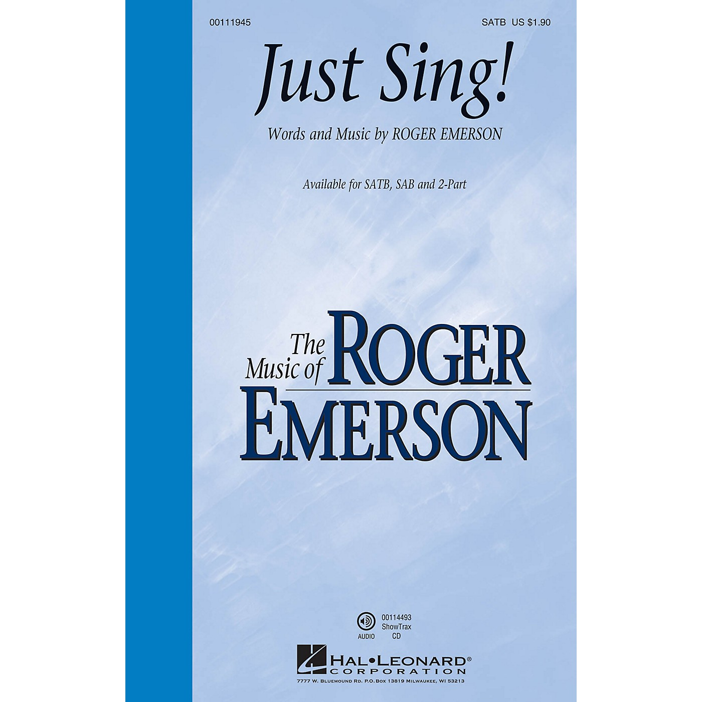 Hal Leonard Just Sing! ShowTrax CD Composed by Roger Emerson thumbnail