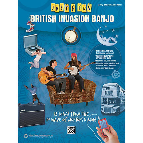 Alfred Just for Fun British Invasion Banjo Book thumbnail