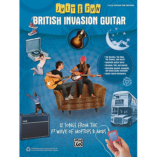 Alfred Just for Fun British Invasion Guitar Book thumbnail