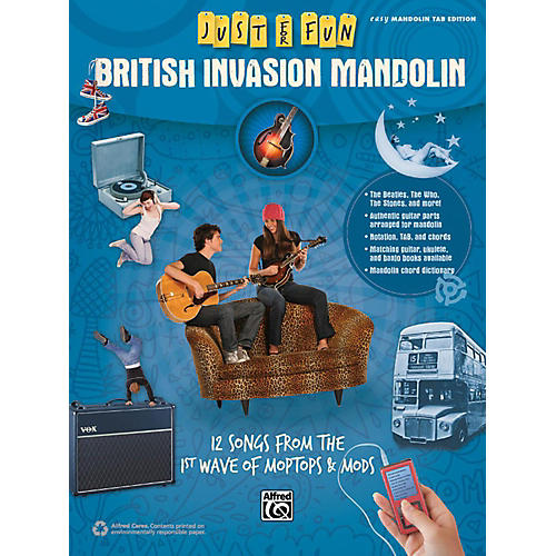 Alfred Just for Fun British Invasion Mandolin Book thumbnail