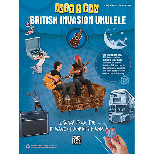 Alfred Just for Fun British Invasion Ukulele Book thumbnail