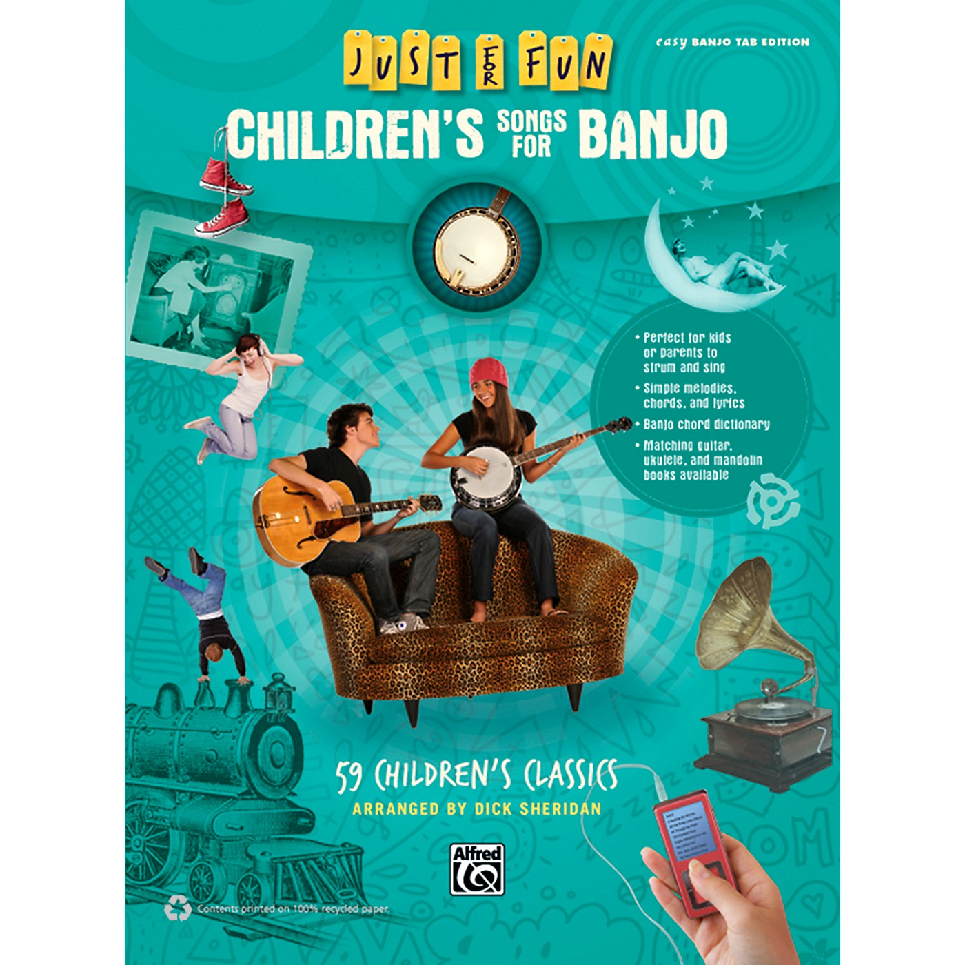 Alfred Just for Fun Children's Songs for Banjo Easy Banjo TAB Book thumbnail