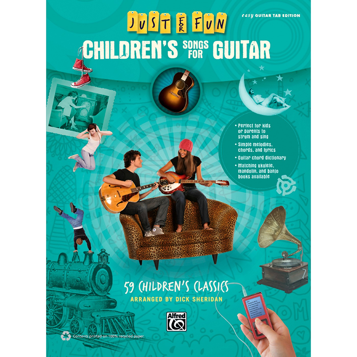 Alfred Just for Fun Children's Songs for Guitar Easy Guitar TAB Book thumbnail