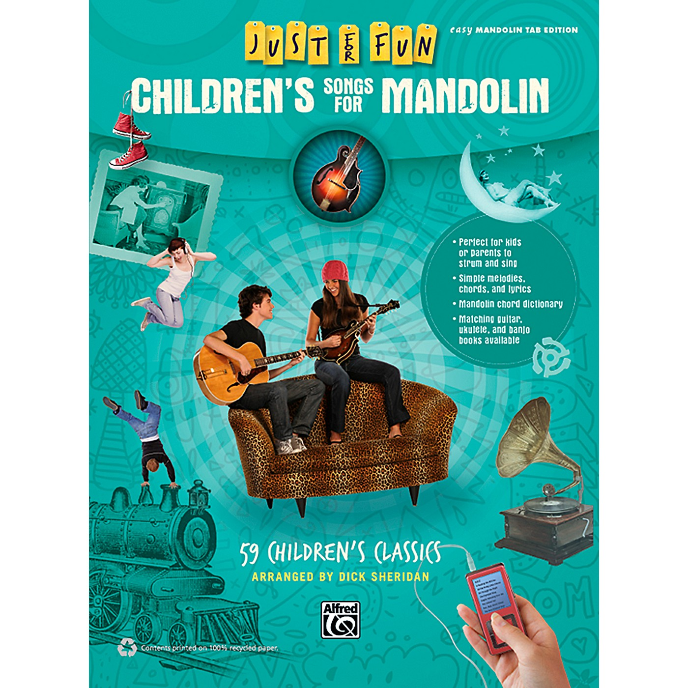 Alfred Just for Fun Children's Songs for Mandolin Easy Mandolin TAB Book thumbnail