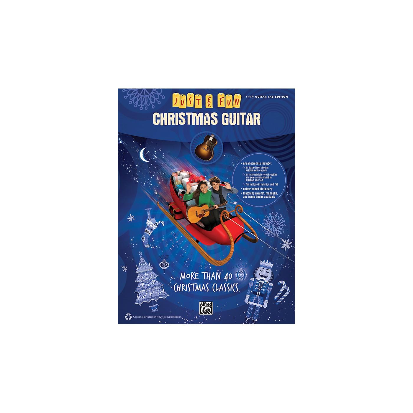 Alfred Just for Fun Christmas Guitar thumbnail