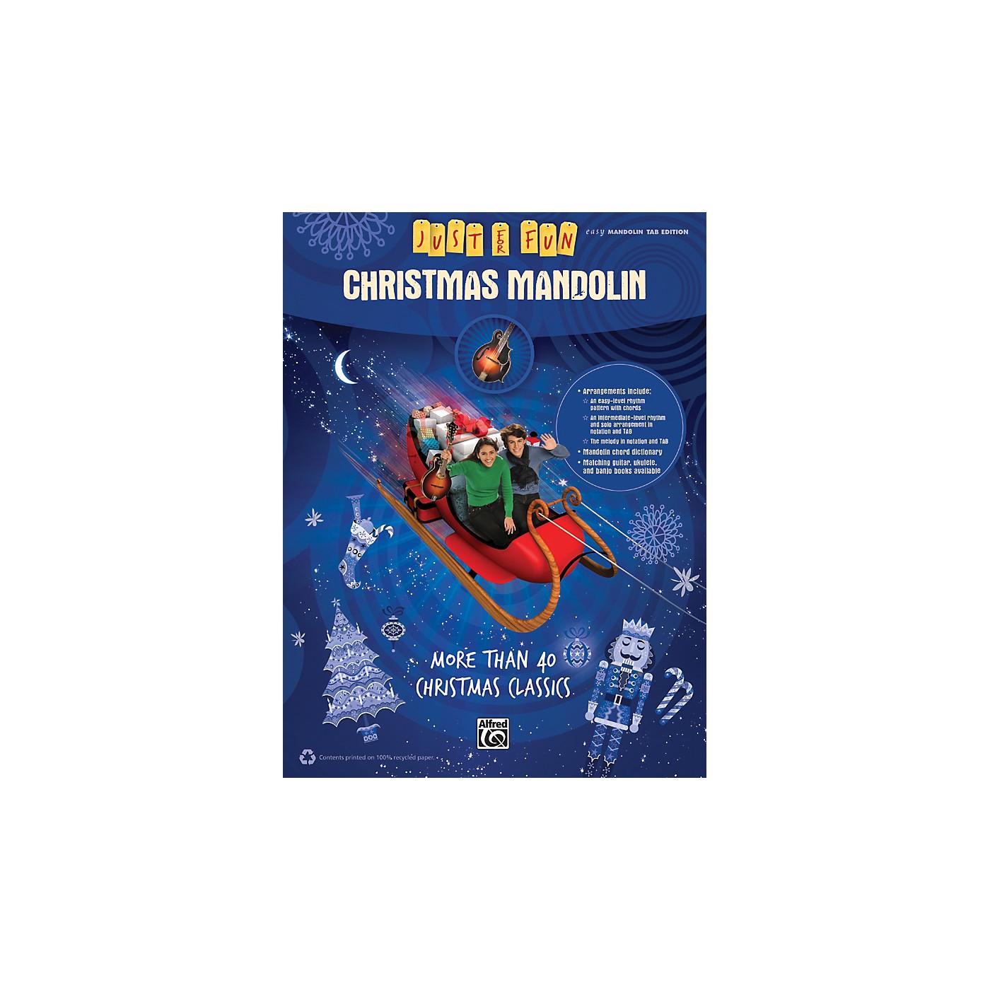 Alfred Just for Fun Christmas Mandolin thumbnail