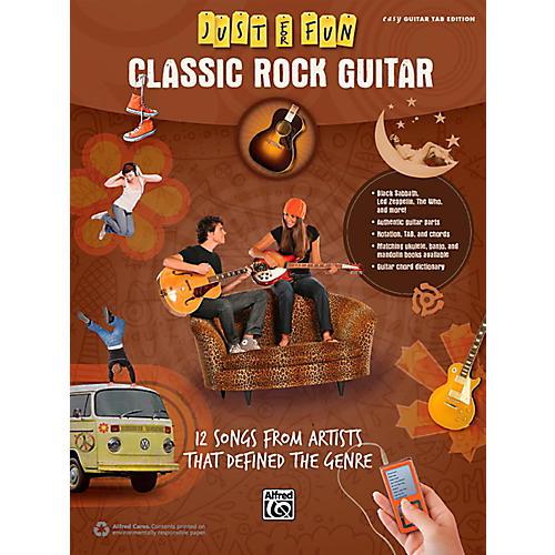 Alfred Just for Fun Classic Rock Guitar Book thumbnail