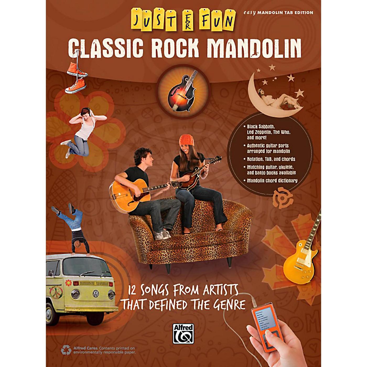 Alfred Just for Fun Classic Rock Mandolin Book thumbnail