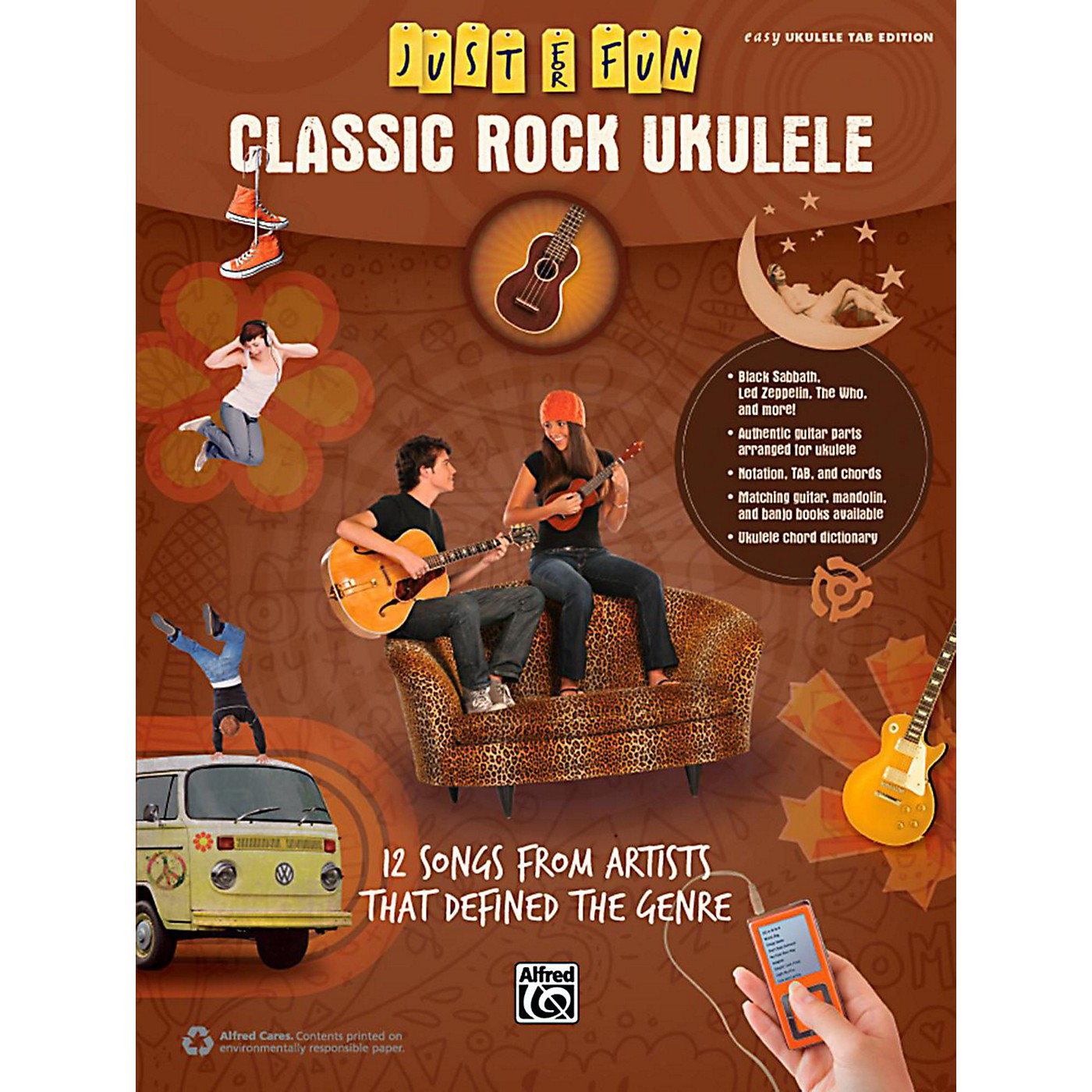 Alfred Just for Fun Classic Rock Ukulele Book thumbnail
