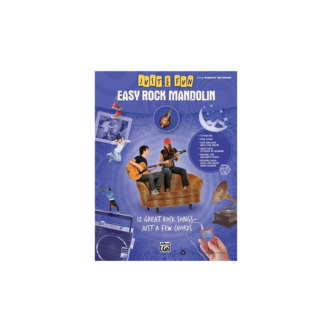 Alfred Just for Fun: Easy Rock Mandolin (Book) thumbnail