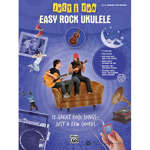 Alfred Just for Fun: Easy Rock Ukulele (Book) thumbnail