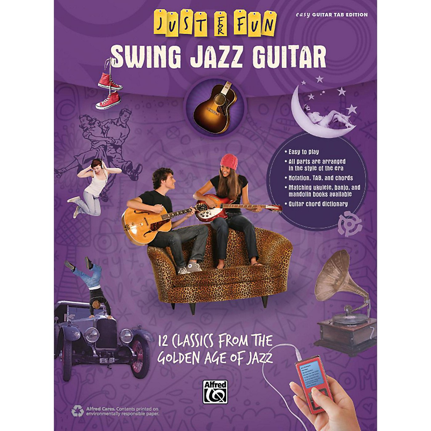 Alfred Just for Fun Swing Jazz Guitar Book thumbnail