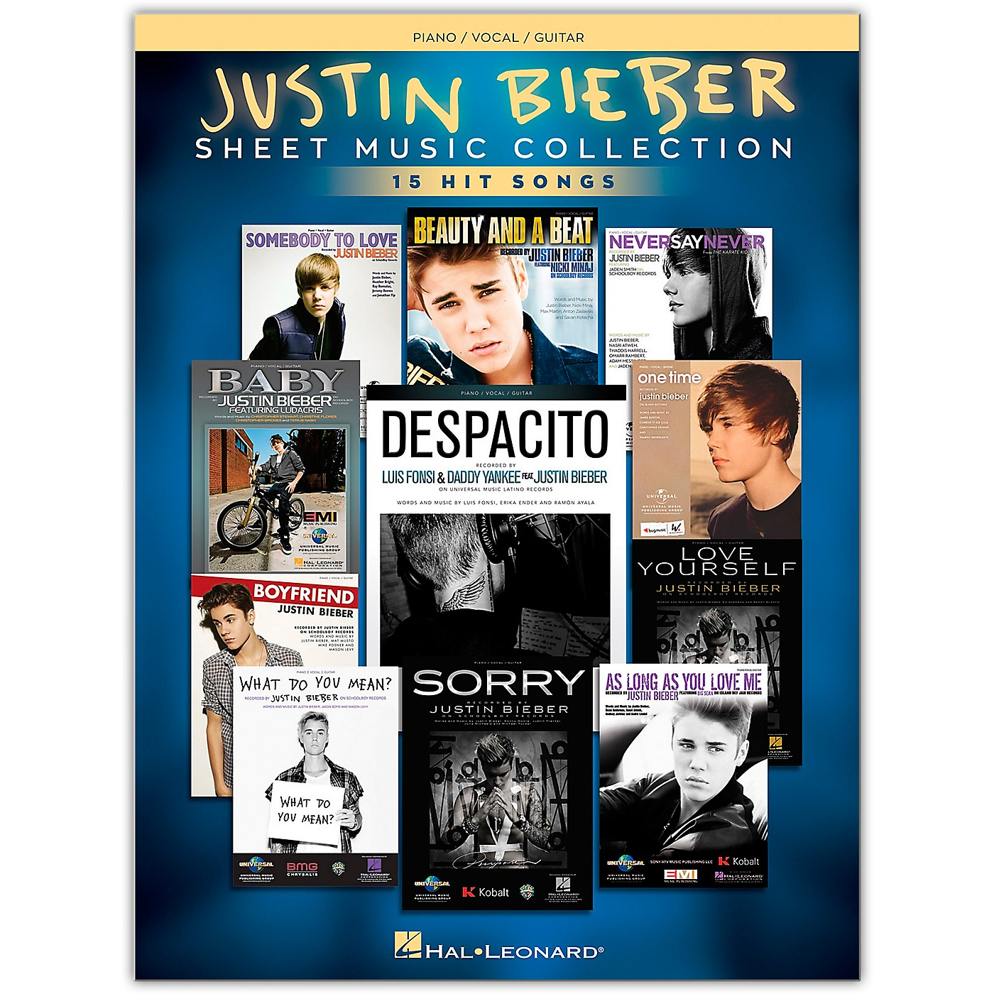 Hal Leonard Justin Bieber - Sheet Music Collection 17 Hit Songs Piano/Vocal/Guitar Songbook thumbnail