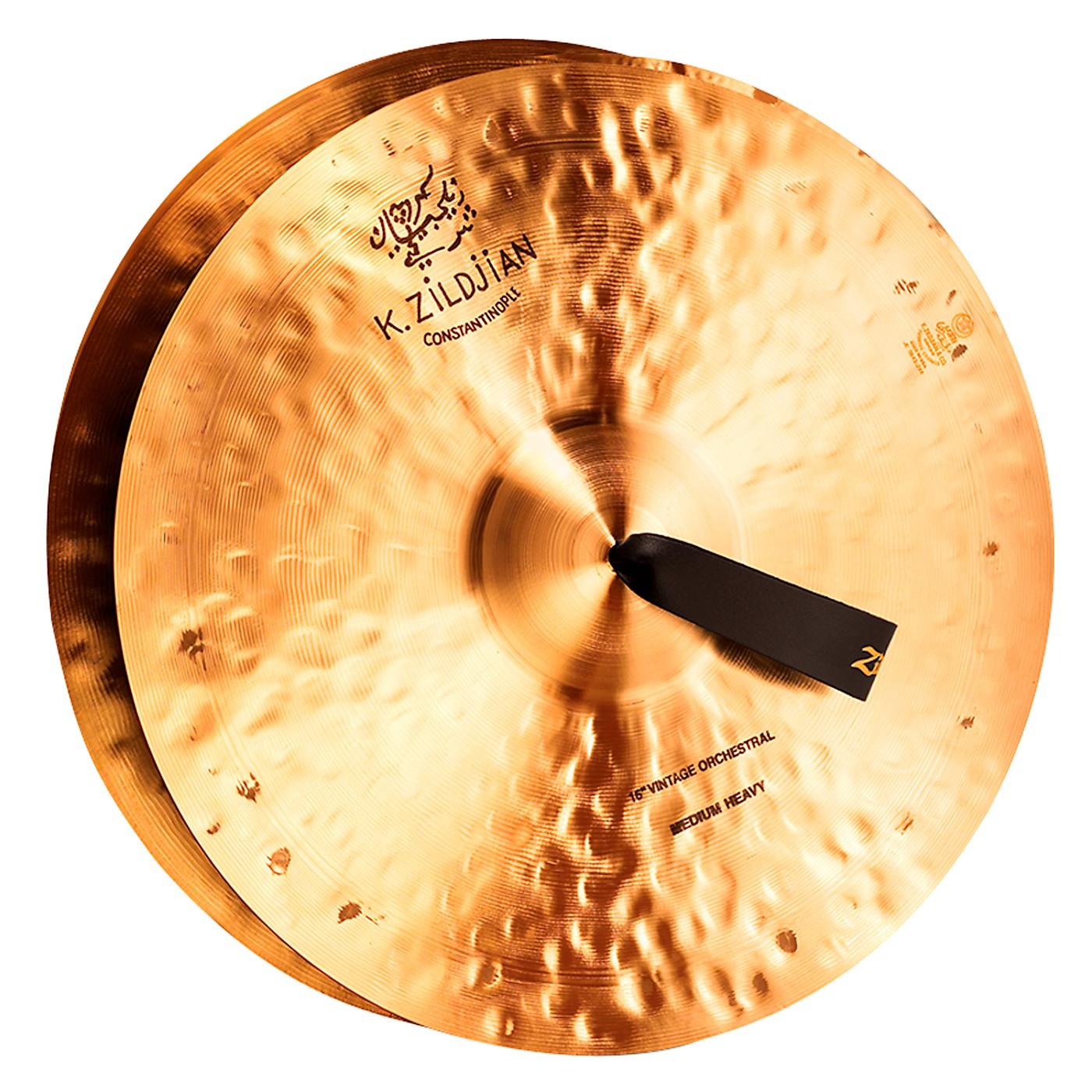 Zildjian K Constantinople Vintage Orchestral Medium Heavy Crash Cymbal Pair thumbnail