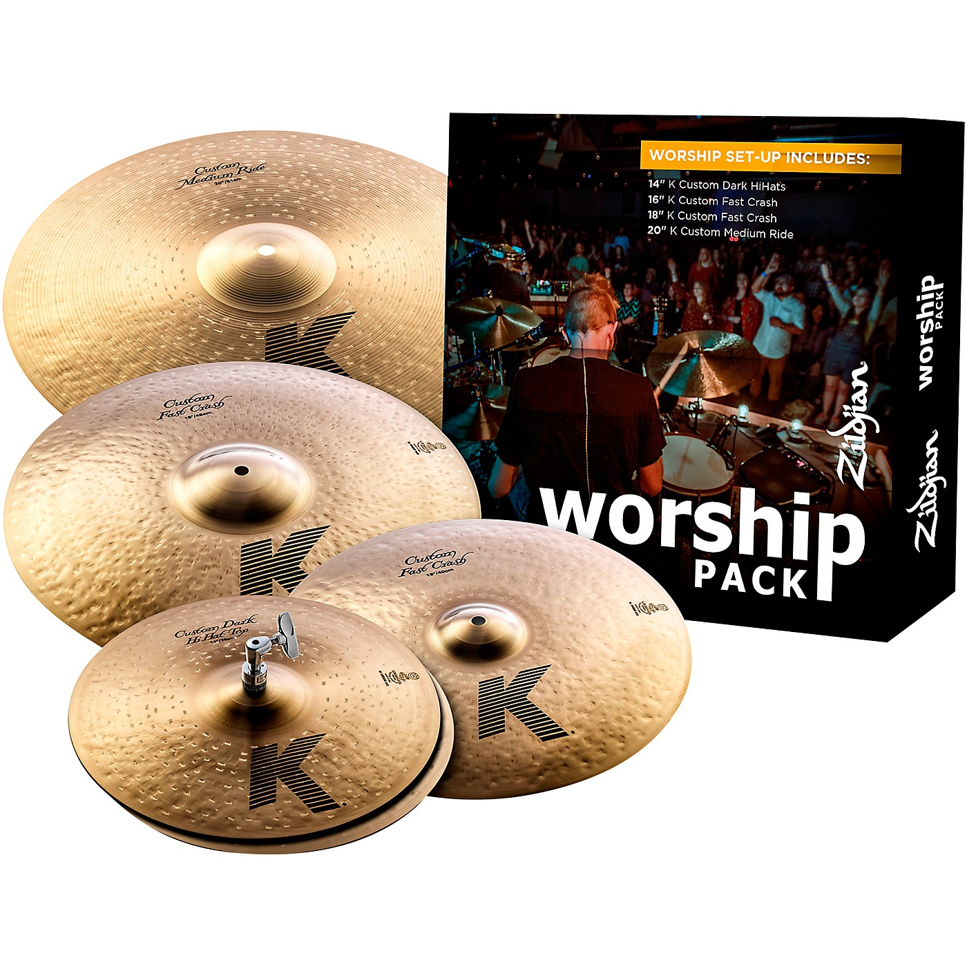 Zildjian K Custom Series Cymbal Set Worship thumbnail