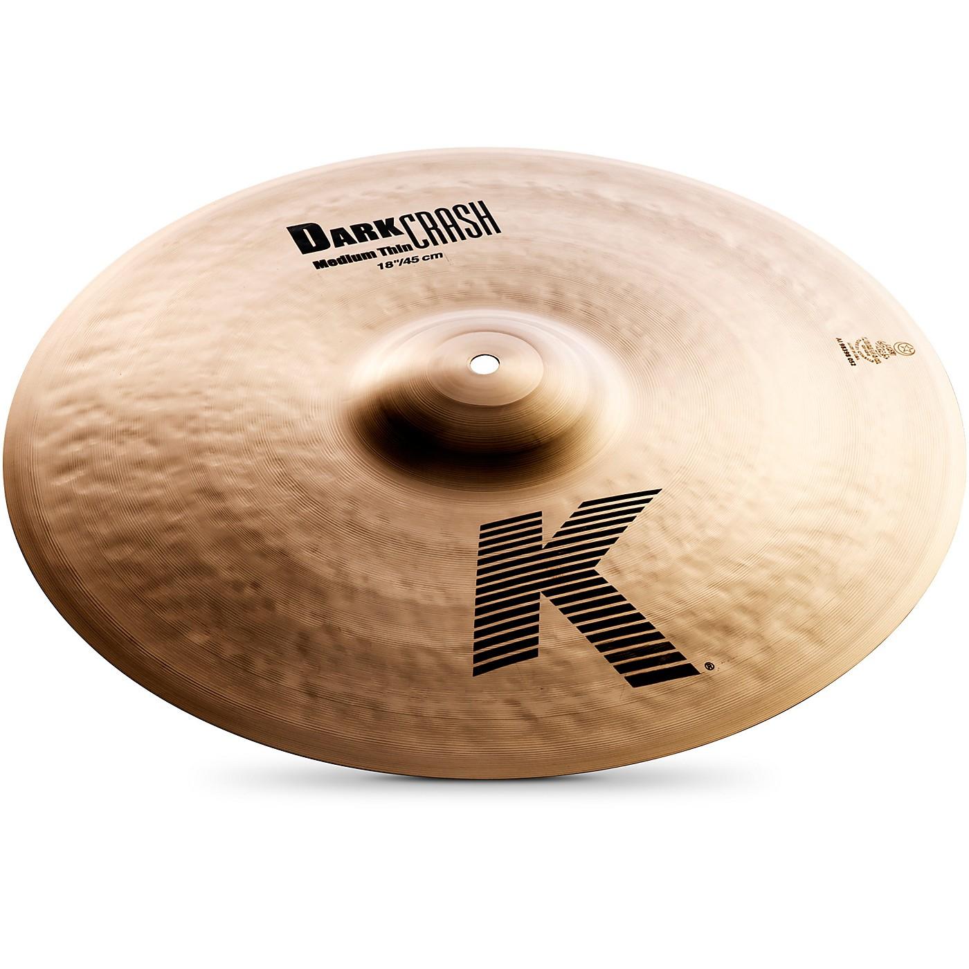 Zildjian K Dark Medium-Thin Crash Cymbal thumbnail