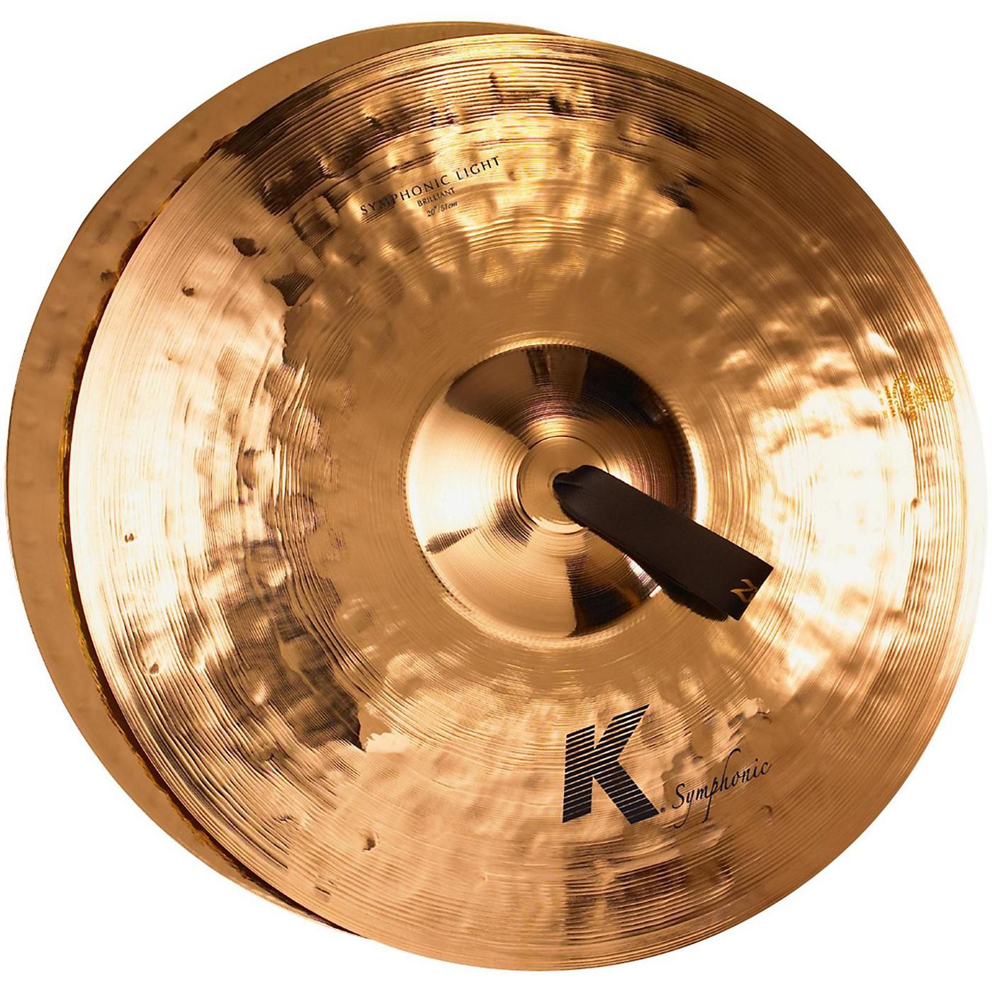 Zildjian K Symphonic Orchestral Light Brilliant Crash Cymbal Pair thumbnail