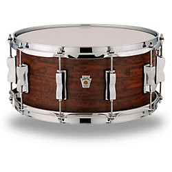 Ludwig Standard Maple Snare Drum with Aged Chestnut Veneer 14 x 6.5 in.