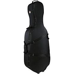 Travelite Deluxe Cello Case 4/4 Size Black Exterior, Blue Interior