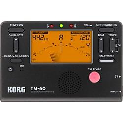 Korg TM-60 Tuner Metronome Black