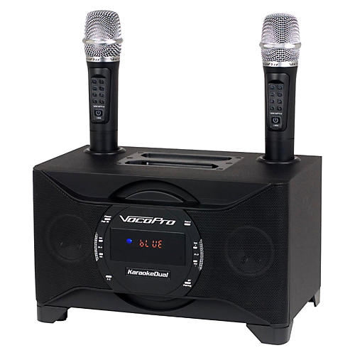 VocoPro KARAOKEDUAL All-In-One Karaoke Boom Box with Wireless Mics thumbnail