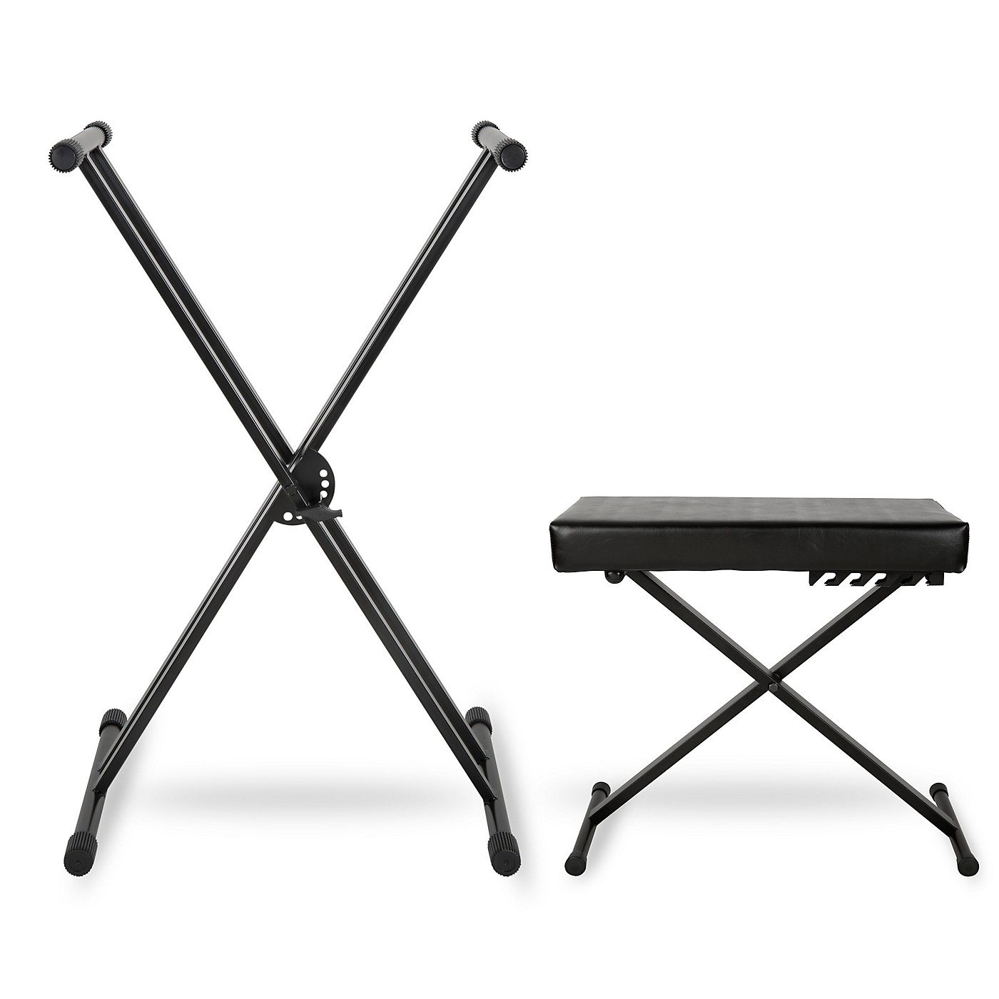 Musician's Gear KBX2 Double-Braced Keyboard Stand and Deluxe Keyboard Bench thumbnail