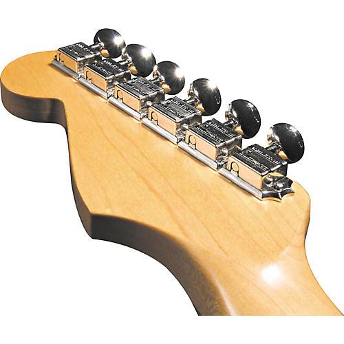 Kluson KF6BL F-Style Locking Guitar Tuning Machines - 6-In-line Bolt Bushing thumbnail