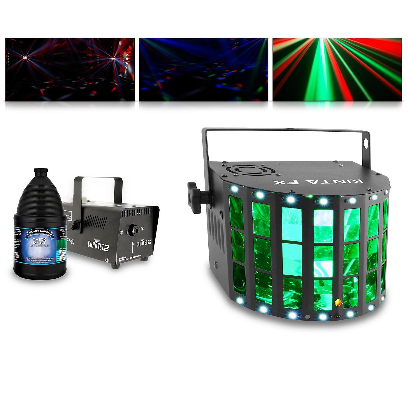 CHAUVET DJ KINTA FX with Hurricane 700 Fog Machine and Juice thumbnail