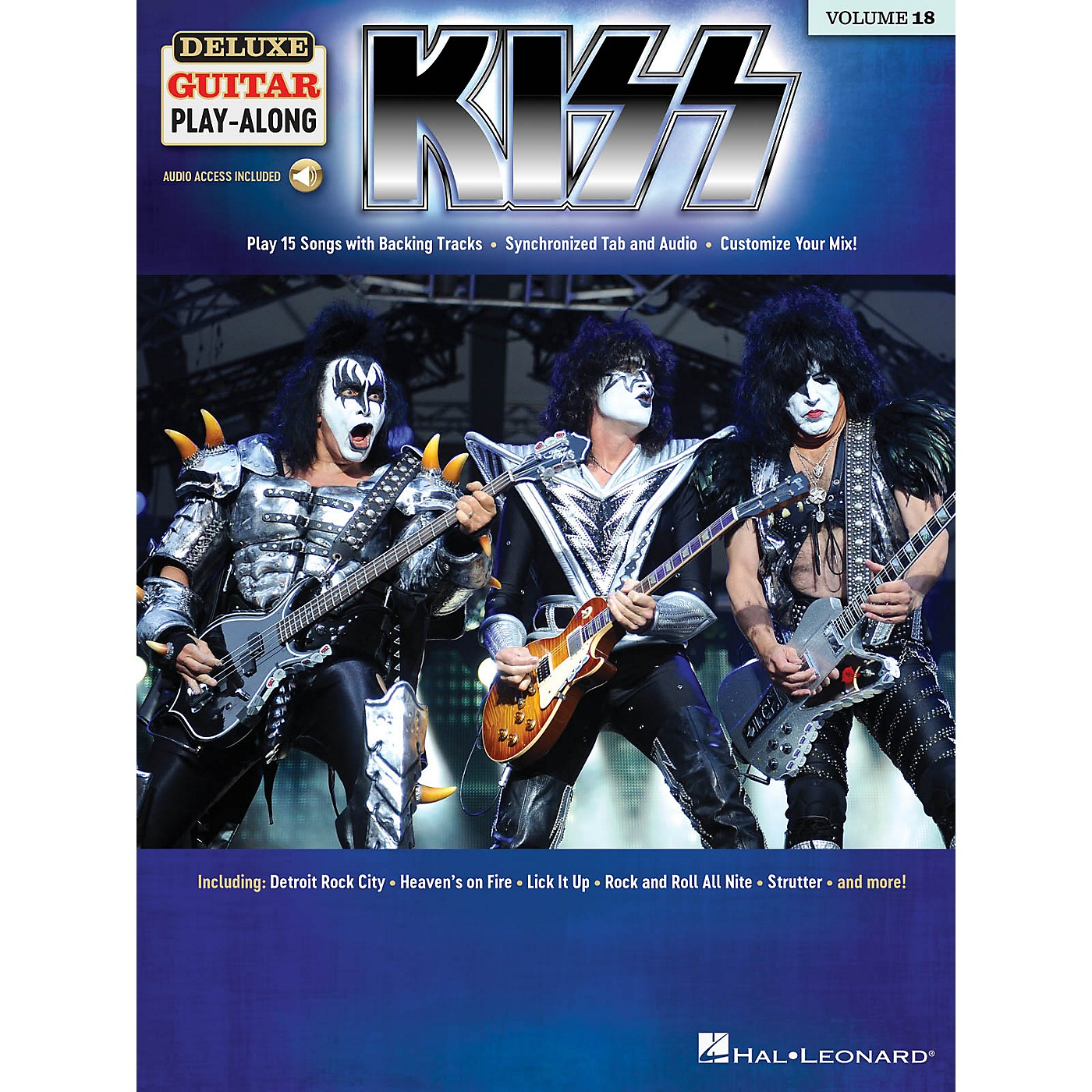 Hal Leonard KISS Deluxe Guitar Play-Along Volume 18 Book/Audio Online thumbnail