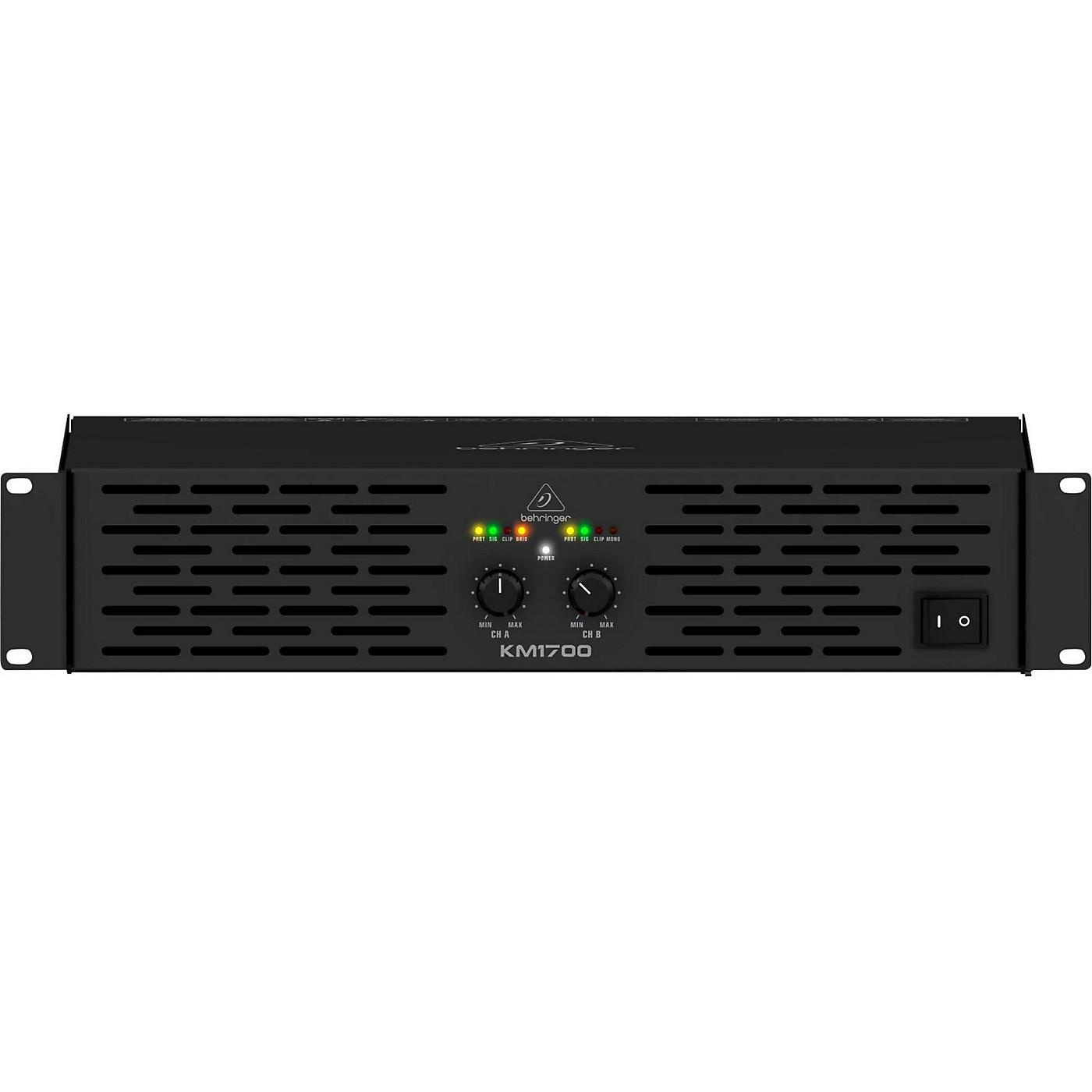 Behringer KM1700 Professional 1700-Watt Stereo Power Amplifier with ATR thumbnail