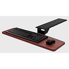 Omnirax KMSOM Adjustable Computer Keyboard Mouse Shelf - Mahogany