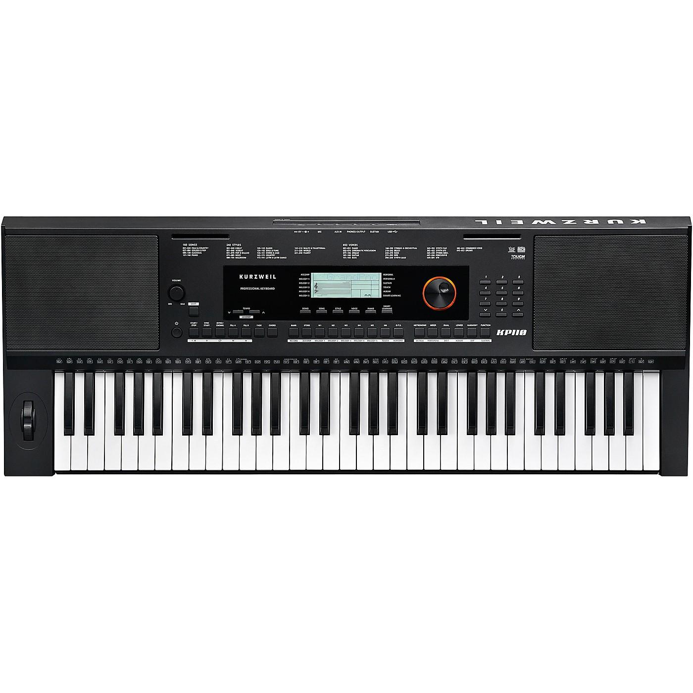 Kurzweil Home KP110 Portable 61-Note Arranger Keyboard thumbnail