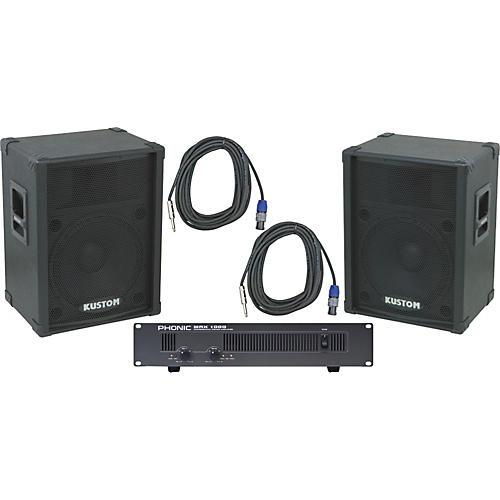 Kustom PA KPC15 / Phonic MAX 1000 Spkr & Amp Package thumbnail