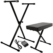 On-Stage Stands KPK6520 Keyboard Stand/Bench Pack with Sustain Pedal