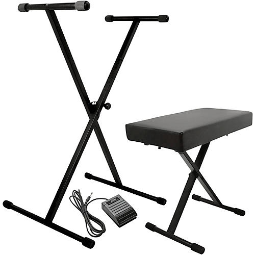 On-Stage KPK6520 Keyboard Stand/Bench Pack with Sustain Pedal thumbnail