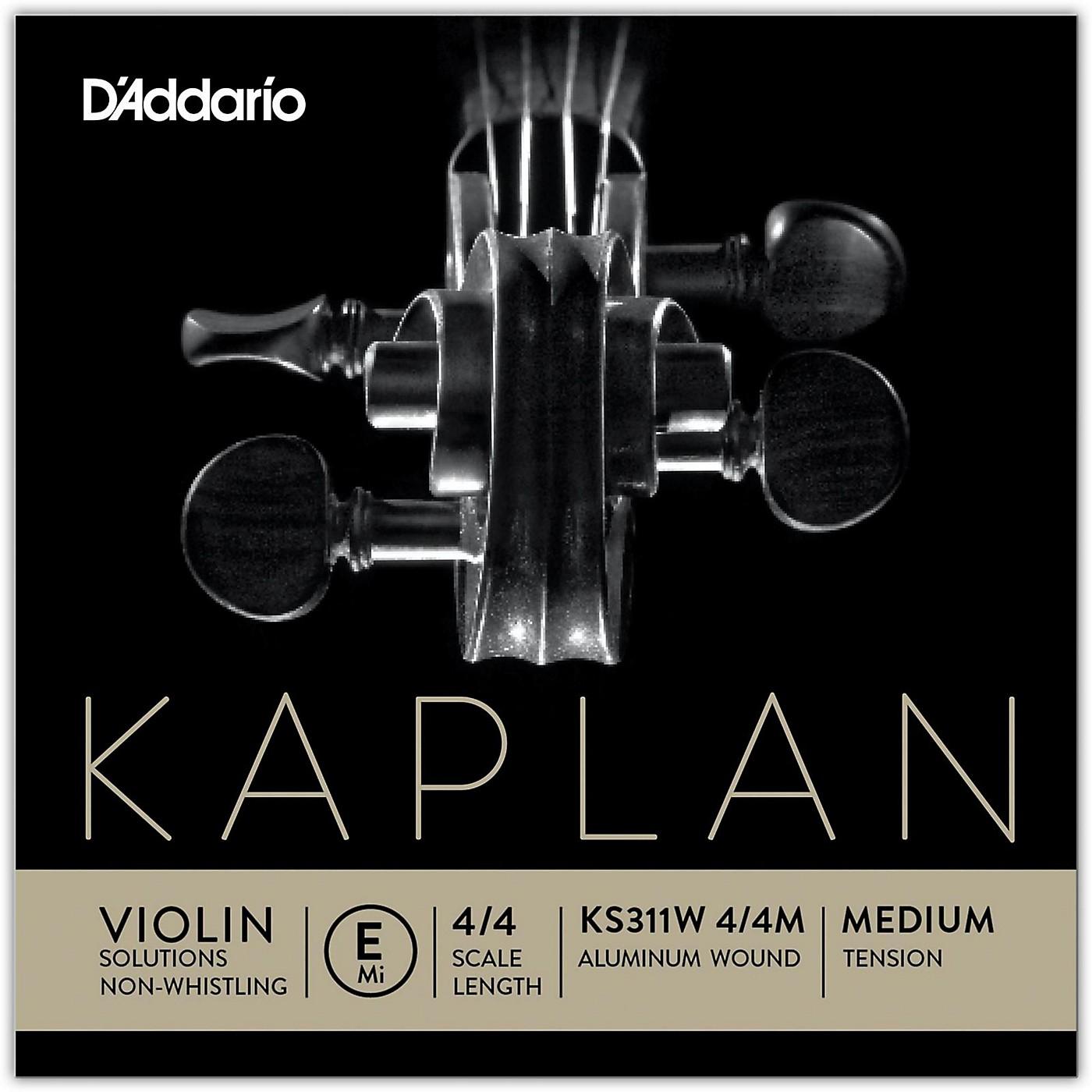 D'Addario KS 311W Kaplan Solutions 4/4 Size Non-Whistling Violin E String (Wound) thumbnail