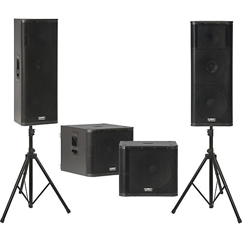QSC KW153 /  KW181 Powered Speaker Dual Sub Package thumbnail