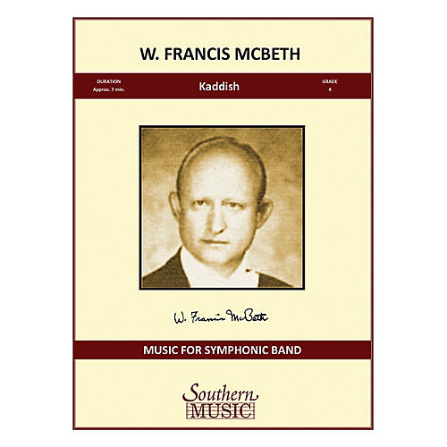 Southern Kaddish Concert Band Level 4 Composed by W. Francis McBeth thumbnail