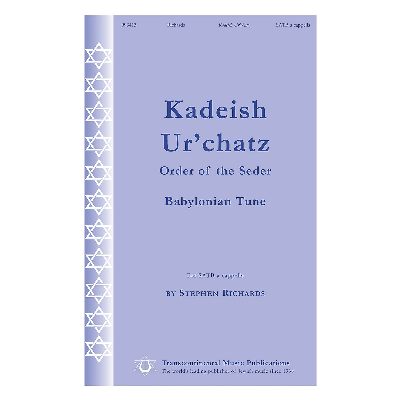 Transcontinental Music Kadeish Ur'chatz (Order of the Seder) SATB a cappella composed by Stephen Richards thumbnail
