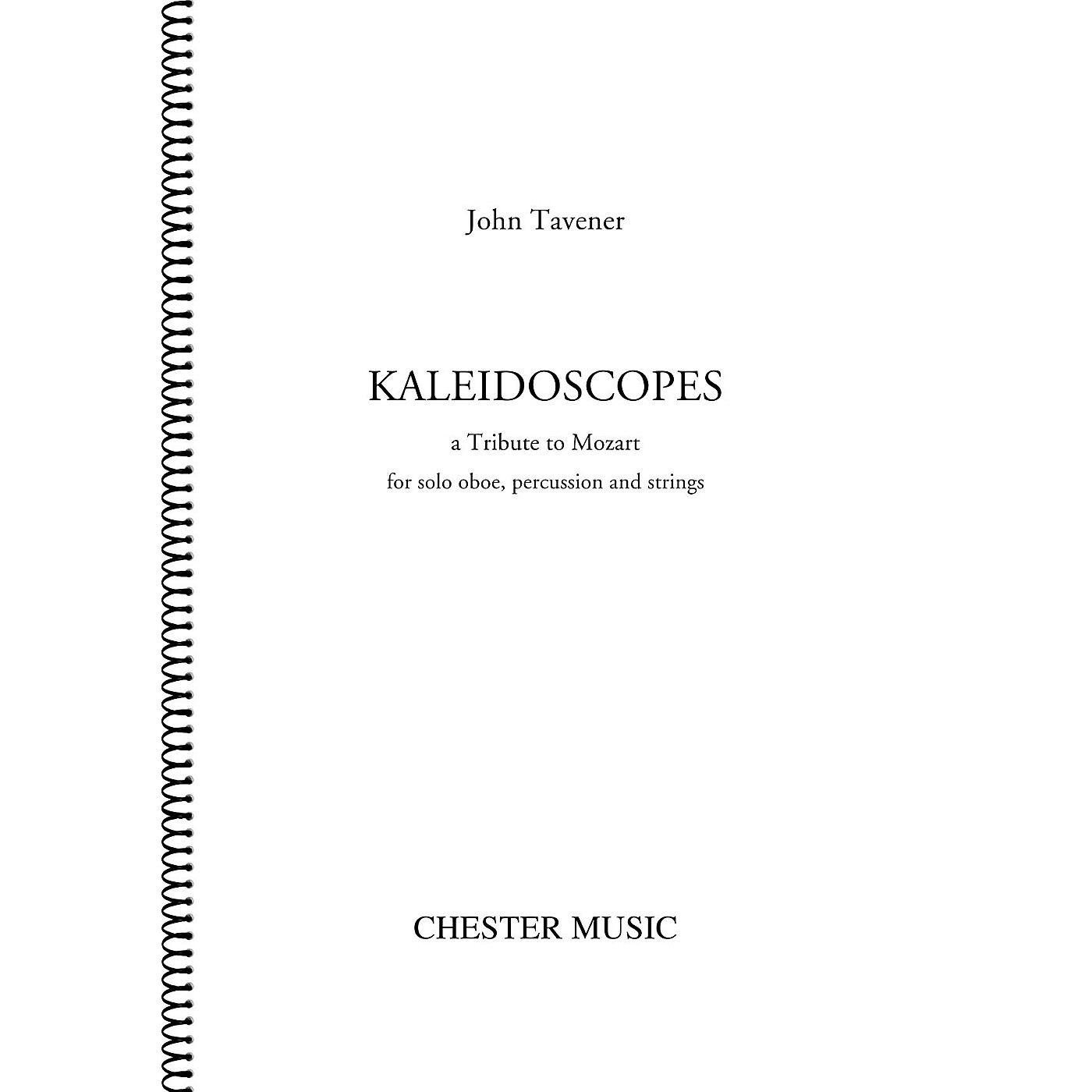 Chester Music Kaleidoscopes Music Sales America Series Book by John Tavener thumbnail
